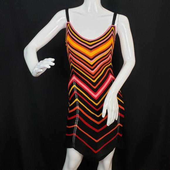 Nasty Gal Dresses & Skirts - NASTY GAL Chevron Multi-Color Knit Mini Dress /NWT
